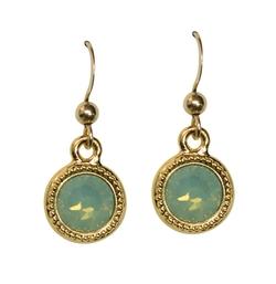 Chloe Pacific Opal Gold Earrings by Brooklyn Designs in The Bachelorette