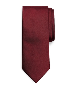 Solid Repp Tie by Brooks Brothers in Black Mass