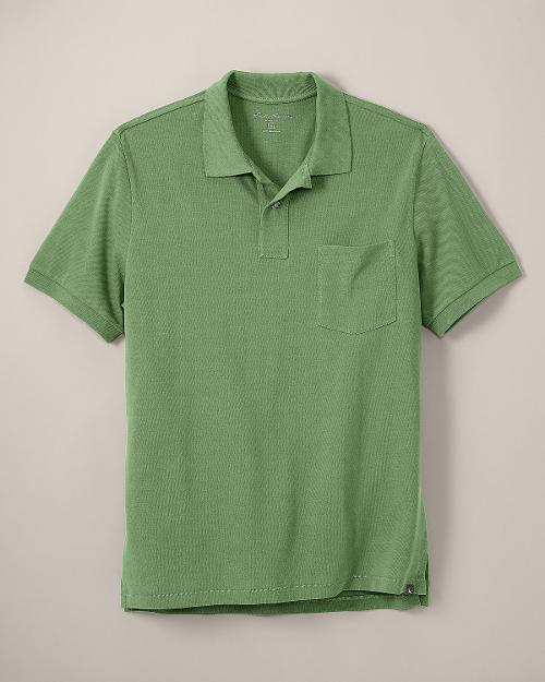 CLASSIC FIT SHORT-SLEEVE POCKET FIELD PIQUE POLO SHIRT by EDDIE BAUER in Jersey Boys