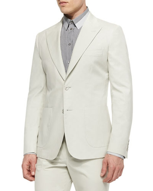 Peak-Lapel Two-Button Jacket by Dolce & Gabbana in By the Sea