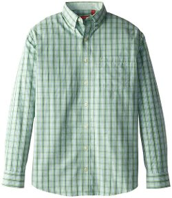 Long Sleeve Medium Plaid Shirt by Izod in Wild