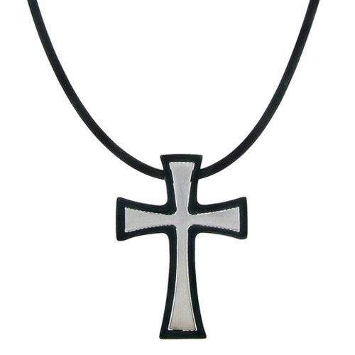 Stainless Steel Outline Cross Necklace by Target in The Best of Me