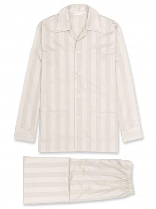 Cotton Satin Stripe Pajamas by Lingfield in The Wolverine