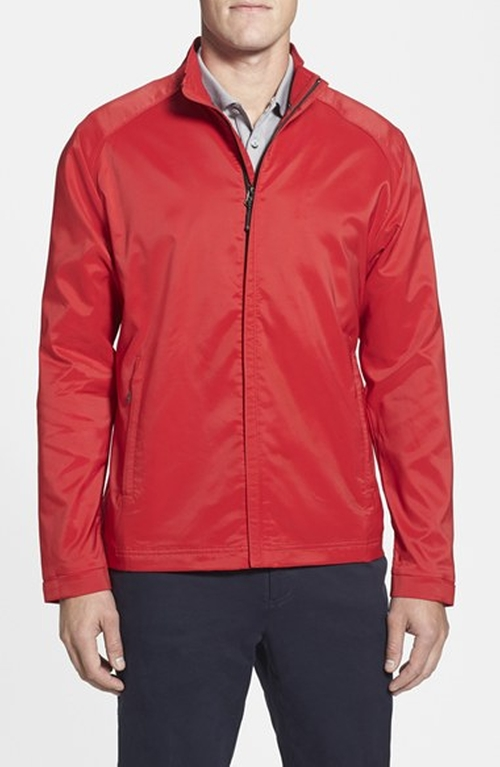 'Blakely' Weathertec Wind & Water Resistant Full Zip Jacket by Cutter & Buck in Inherent Vice
