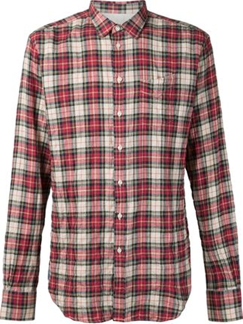 Plaid Check Shirt by Officine Generale in Modern Family - Season 7 Episode 3