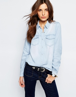 Light Washed Denim Shirt by Vila  in Special Correspondents