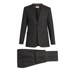 Notch-Lapel Single-Breasted Wool Suit by Saint Laurent in Suits