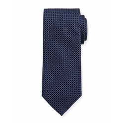 Woven Dotted Circles Neat Silk Tie by Eton in Billions