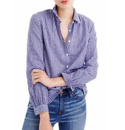 Gathered Gingham Popover Shirt by J.Crew in Modern Family