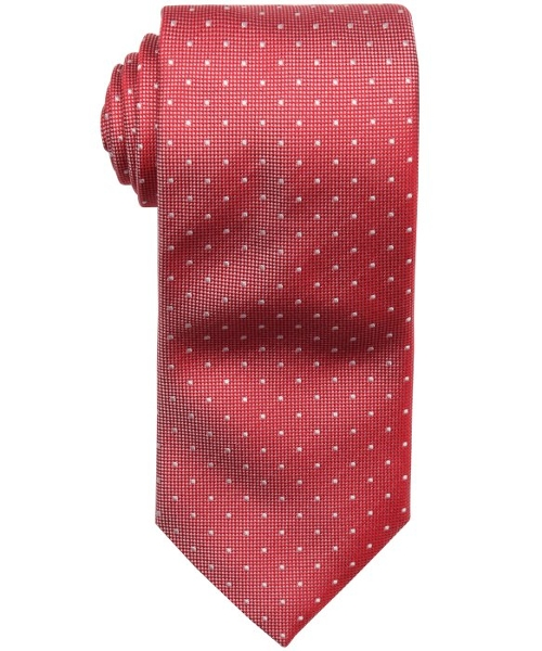 Dotted and Micro Checkered Silk Tie by Hugo Boss in Boyhood