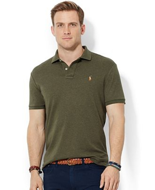 Pima Soft-Touch Polo Shirt by Polo Ralph Lauren in Fight Club