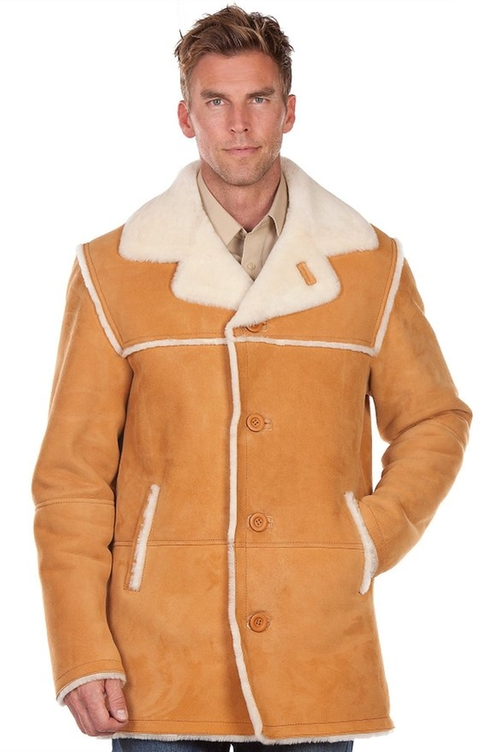 Men's El Dorado Shearling Sheepskin Coat by Overland Sheepskin Co in Modern Family - Season 7 Episode 9