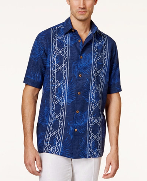 Embroidered Short-Sleeve Shirt by Tasso Elba in Hands of Stone