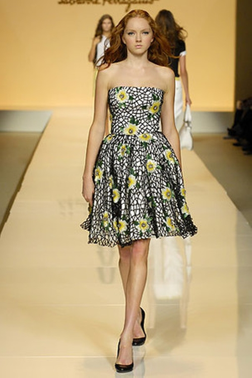 Strapless Floral Print Dress by Salvatore Ferragamo in Sex and the City