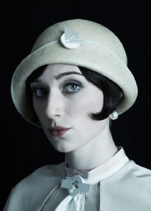Custom Made Beige Cloche Hat (Jordan Baker) by Rosie Boylan (Headwear Specialist) in The Great Gatsby