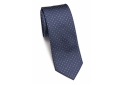 Gancini Patterned Silk Tie by Salvatore Ferragamo in Ballers