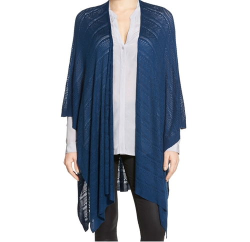 Pointelle Knit Cape by Echo in The Boss