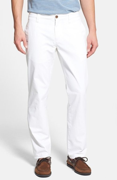 Classic Fit Flat Front Chinos by Tailor Vintage in Shutter Island