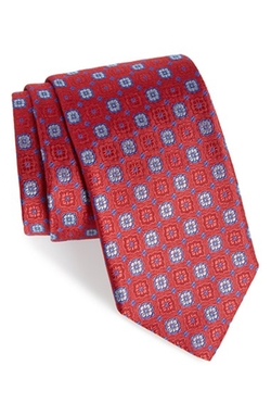 Geometric Silk Tie by Robert Talbott in Billions