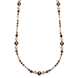 Silver-Plated Crystal & Simulated Pearl Long Necklace by Crystal Avenue in The Good Wife