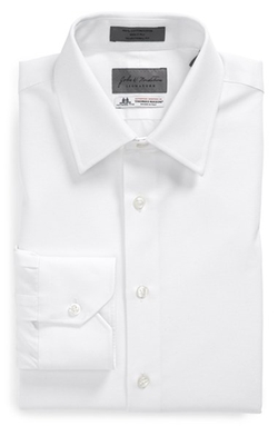 Signature Traditional Fit Solid Dress Shirt by John W Nordstrom Signature in Suits