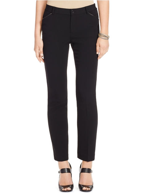 Stretch Wool Straight Pants by Ralph Lauren in Pretty Little Liars