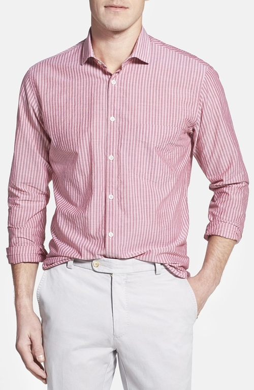 'John T' Standard Fit Stripe Sport Shirt by Billy Reid in Furious 7