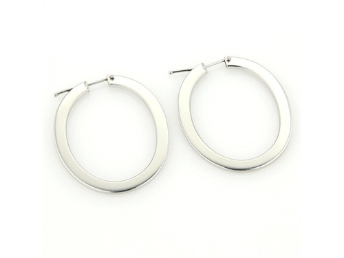 Long Oval Hoop Earrings by Roberto Coin in Side Effects
