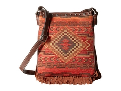 Indian Blanket Fringe Crossbody Bag by M&F Western  in Unbreakable Kimmy Schmidt
