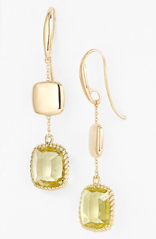 'Ipanema' Citrine Drop Earrings by Roberto Coin in Entourage