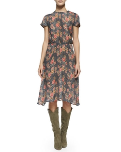 Saky Floral-Print Blouson Dress by Etoile Isabel Marant in Supergirl