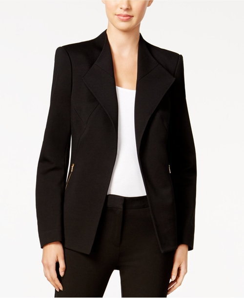 Zip-Pocket Open-Front Blazer by Calvin Klein in How To Get Away With Murder - Season 3 Episode 3