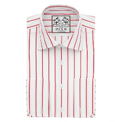 Alford Stripe Slim Fit Double Cuff Shirt by Thomas Pink in Silver Linings Playbook