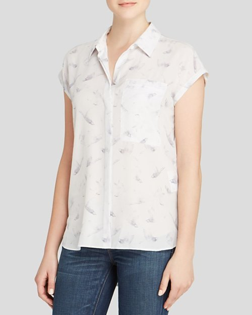 Cap Sleeve Flock Together Top by Rebecca Taylor in While We're Young