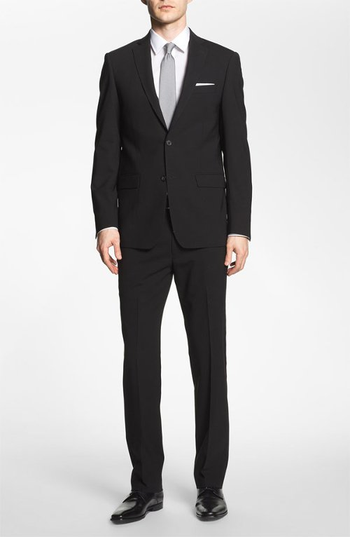 Trim Fit Stretch Wool Suit by Michael Kors in Sex and the City 2