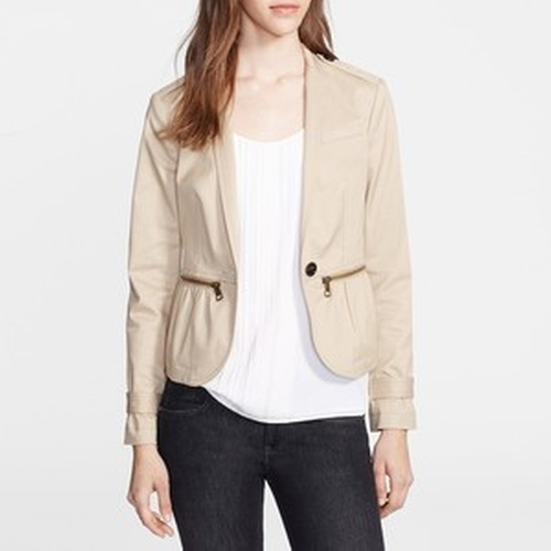 Zip Detail Stretch Cotton Jacket by Burberry in How To Get Away With Murder