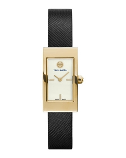 Leather-Strap Golden Watch by Tory Burch Watches in The Transporter: Refueled