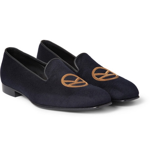 Leather-Trimmed Cashmere Slippers by George Cleverley in Kingsman: The Secret Service
