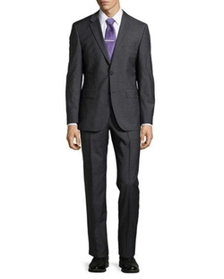 Classic-Fit Grand Central Solid Two-Piece Suit by Hugo Boss  in New Girl
