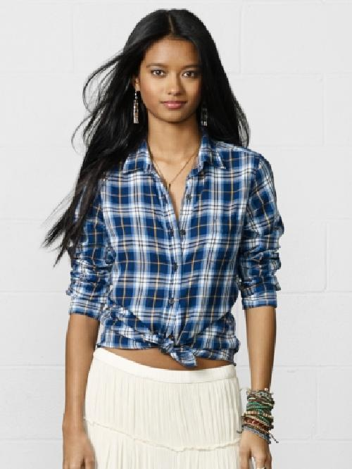 Plaid Tomboy Shirt by Ralph Lauren in Neighbors
