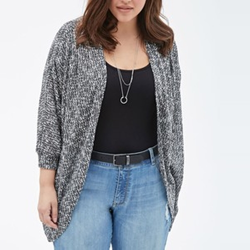 Marled Knit Dolman Cardigan Sweater by Forever 21 in Modern Family - Season 7 Episode 12