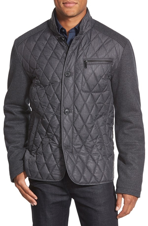 Mixed Media Diamond Quilted Jacket by 7 For All Mankind in Modern Family - Season 7 Episode 9