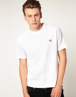 Crew Neck Plain T-Shirt by Fred Perry in Ballers