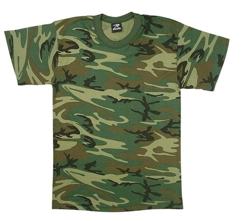 Camo Heavyweight T-Shirt by Rothco in Boyhood