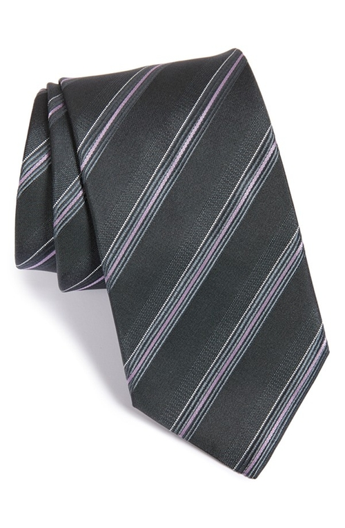 Stripe Silk Tie by Boss in Supergirl - Season 1 Episode 2