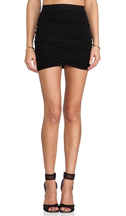 Marled Drape Jersey Skirt by T By Alexander Wang in Mistresses