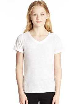 Girl's Vintage V-Neck Tee by Splendid in (500) Days of Summer