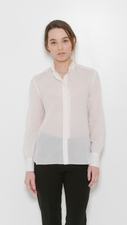 Ruffle Collar Blouse by SEE by Chloe in The Boss