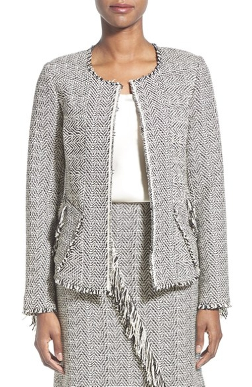 'Sydney' Fringe Tweed Jacket by Kobi Halperin in Scandal - Season 5 Episode 10