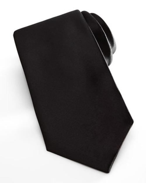 Satin Formal Tie, Black by Neiman Marcus in Jersey Boys